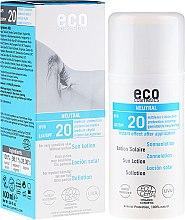 Profumi e cosmetici Emulsione solare senza profumo SPF 20 - Eco Cosmetics Sun Lotion SPF 20