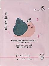 Profumi e cosmetici Maschera in tessuto - Beauty Kei Micro Facialist Boosting Snail Essence Mask