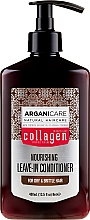 Profumi e cosmetici Balsamo indelebile per capelli secchi e fragili - Arganicare Collagen Nourishing Leave-In Conditioner