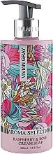 """Profumi e cosmetici Sapone liquido in crema """"Lampone e rosa"""" - Vivian Gray Aroma Selection Raspberry & Rose Cream Soap"""