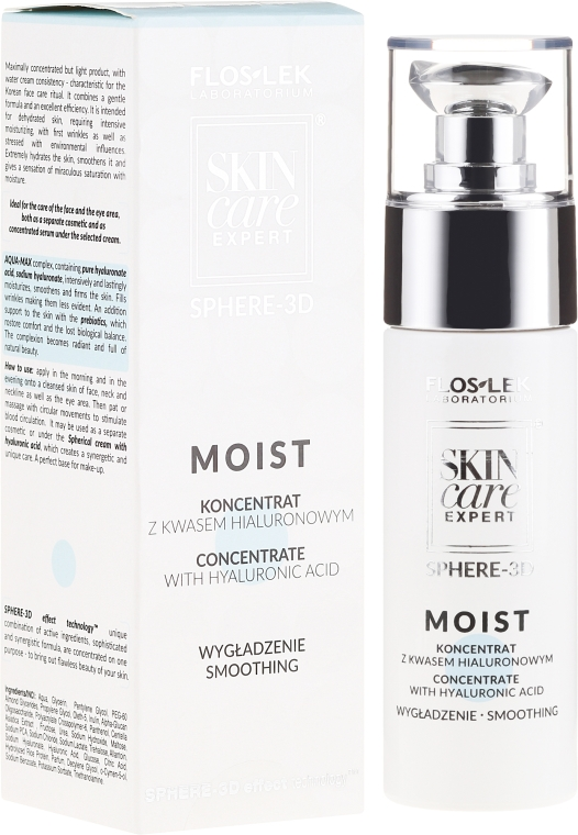 Siero concentrato con acido ialuronico - Floslek Skin Care Expert Sphere-3D Concentrate Serum With Hyaluronic Acid