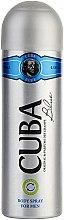Profumi e cosmetici Cuba Blue - Spray per il corpo