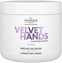 Profumi e cosmetici Scrub mani con il profumo di giglio e lillà - Farmona Professional Velevet Hands Scrub For Hands