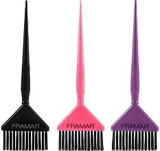 Profumi e cosmetici Spazzole per colorare i capelli, nero, rosa, viola - Framar Big Daddy Brush Set