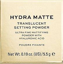 Profumi e cosmetici Cipria sfusa opaccizzante - Makeup Revolution Pro Hydra Matte Translucent Setting Powder
