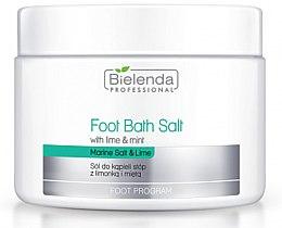 Profumi e cosmetici Sale per pediluvio con lime e menta - Bielenda Professional Foot Bath Salt with Lime & Mint