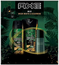 Profumi e cosmetici Axe Wild - Set (deo/150ml + sh/gel/250ml + edt/50ml)