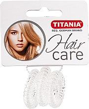 """Profumi e cosmetici Elastico per capelli """"Anti Ziep"""", trasparente, 3 pezzi - Titania"""