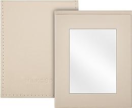 Profumi e cosmetici Specchio tascabile pieghevole, beige - MakeUp Pocket Mirror Beige