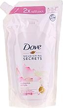 """Profumi e cosmetici Sapone liquido """"Fiore di loto"""" - Dove Nourishing Secrets Glowing Ritual Hand Wash (doy pack)"""