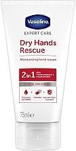 Profumi e cosmetici Crema mani antibatterica - Vaseline Expert Care Dry Hands Rescue 2in1 Moisturising Hand Cream