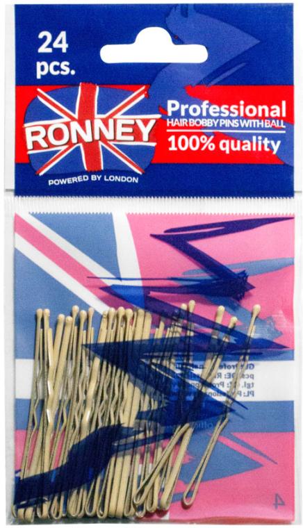 Forcine capelli, beige 60 mm, 24 pz. - Ronney Cream Hair Bobby Pins