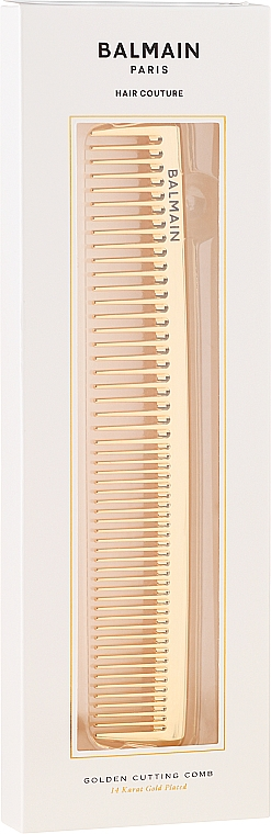 Pettine dorato - Balmain Paris Hair Couture Golden Cutting Comb — foto N2