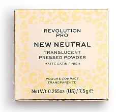 Profumi e cosmetici Cipria transparente - Revolution Pro New Neutral Translucent Pressed Powder