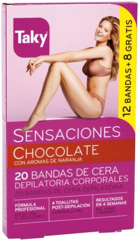 Strisce depilatorie corpo - Taky Chocolate Body Wax Strips With Orange Fragrance Box