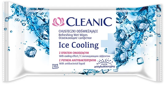 Salviette rinfrescanti, 15 pz - Cleanic Ice Cooling Wipes — foto N1