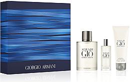 Profumi e cosmetici Giorgio Armani Acqua Di Gio Pour Homme - Set (edt 100ml + edt 15ml + sh/gel 75ml)
