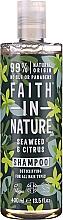 "Profumi e cosmetici Shampoo per tutti i tipi di capelli ""Alghe e Agrumi"" - Faith In Nature Seaweed & Citrus Shampoo"