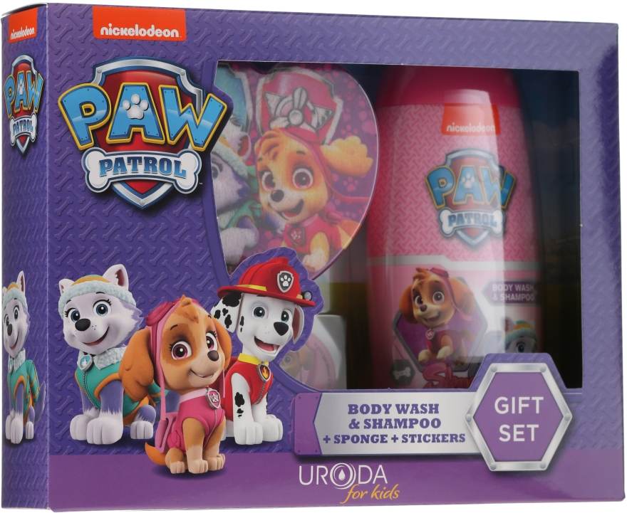 Set - Uroda Paw Patrol Girl (sh/gel/250ml + sponge + stickers)