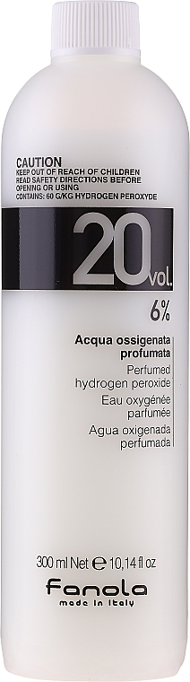 Emulsione ossidante - Fanola Acqua Ossigenata Perfumed Hydrogen Peroxide Hair Oxidant 20vol 6%