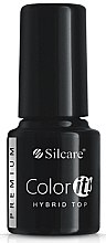 Profumi e cosmetici Top coat per le unghie - Silcare Color IT Premium Hybrid Top Coat Gel