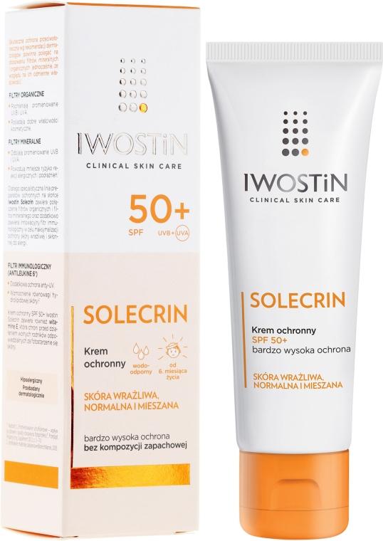 Crema solare - Iwostin Solecrin Lucidin Protective Cream SPF 50+