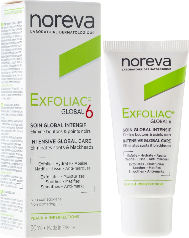 Crema viso - Noreva Exfoliac Global 6 Severe Imperfections Cream