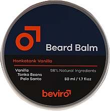 Profumi e cosmetici Balsamo per barba - Beviro Beard Balm Vanilla, Palo Santo, Tonka Boby