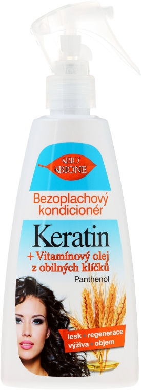 Spray-condizionante per capelli - Bione Cosmetics Keratin + Grain Sprouts Oil Leave-in Conditioner