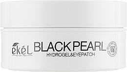 Profumi e cosmetici Patch occhi in idrogel con estratto di perle nere - Ekel Ample Hydrogel Eyepatch