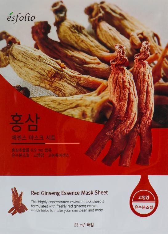 "Maschera in tessuto ""Estratto di ginseng"" - Esfolio Red Ginseng Essence Mask Sheet"