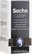Profumi e cosmetici Base smalto trasparente - Seche Vite Clear Crystal Base Coat