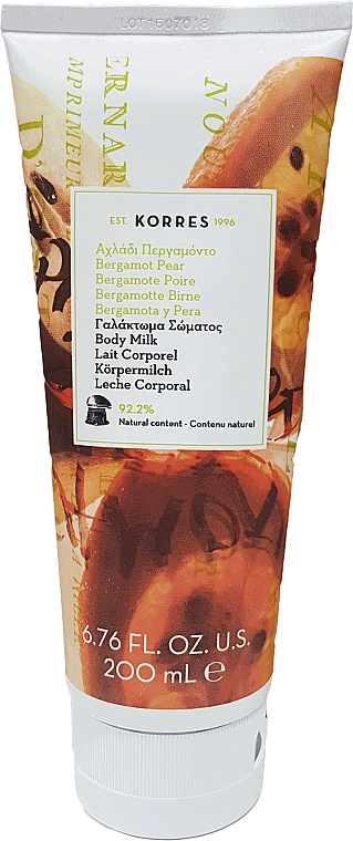 "Latte corpo ""Bergamotto e pera"" - Korres Bergamot Pear Body Milk — foto N1"