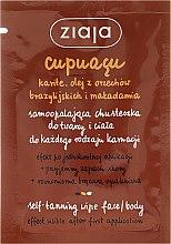 Profumi e cosmetici Fazzoletto autoabbronzante viso e corpo, per tutti i tipi di pelle - Ziaja Cupuacu