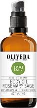 """Profumi e cosmetici Olio corpo """"Rosmarino e Salvia"""" - Oliveda Body Oil Rosemary Salbei Activating"""