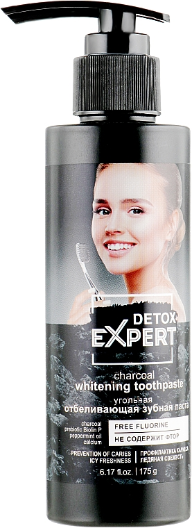 Dentifricio sbiancante al carbone - Detox Expert Charcoal Whitening Toothpaste
