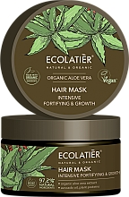 """Profumi e cosmetici Maschera per capelli """"Rafforzamento e crescita intensiva"""" - Ecolatier Organic Aloe Vera Hair Mask"""