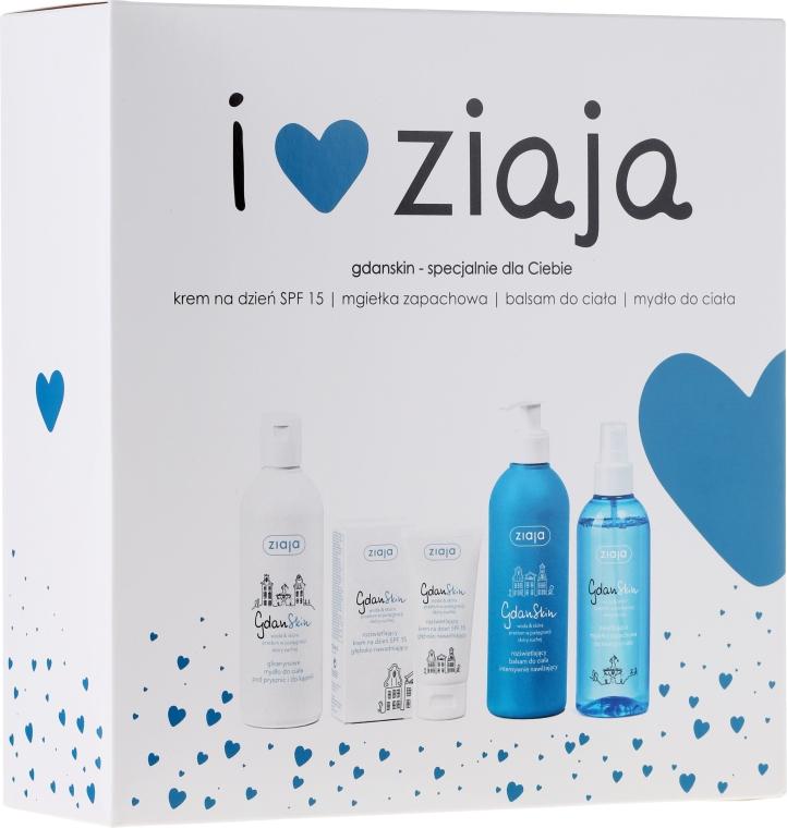 Set - Ziaja GdanSkin (cr/50ml + spray/200ml + balm/300ml + soap/300ml)