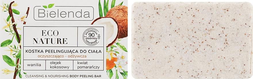 """Sapone-scrub corpo """"Cocco"""" - Bielenda Eco Nature Body Peeling Bar Vanilla Coconut Milk Orange"""