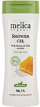 Profumi e cosmetici Gel doccia con miele e latte - Melica Organic Shower Gel