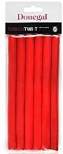 Profumi e cosmetici Bigodini 5004, 1,3 cm/18 cm, rosso - Donegal Ribbon Twist