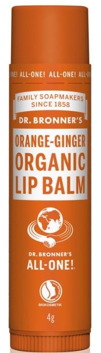 "Balsamo labbra ""Arancia e zenzero"" - Dr. Bronner's Orange & Ginger Lip Balm — foto N1"