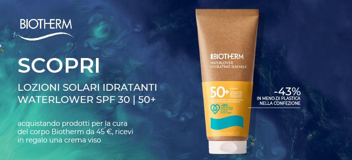 Acquistando prodotti per la cura del corpo Biotherm da 45 €, ricevi in regalo una crema viso
