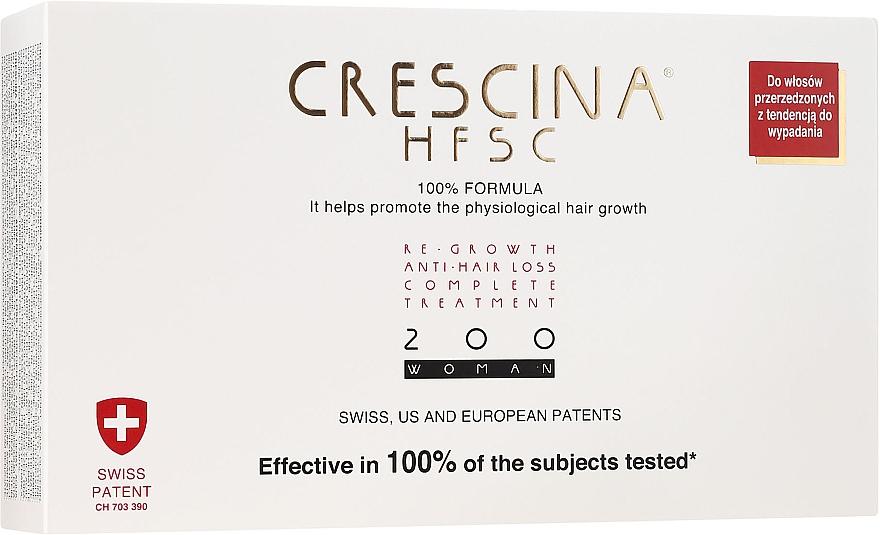 Complesso anticaduta dei capelli 200, per donne - Crescina Re-Growth HFSC Formula 100%