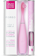 Profumi e cosmetici Spazzolino elettrico con testina extra - Foreo Issa 2 Sensitive Set Pearl Pink