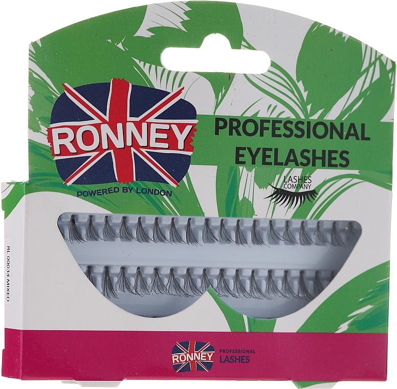 Set ciglia, 10,12,14 mm - Ronney Professional Eyelashes 00034
