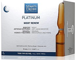 Profumi e cosmetici Fiale viso anti-age da notte - MartiDerm Platinum Night Renew Ampollas