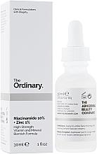 Profumi e cosmetici Siero viso con zinco e niacinamide - The Ordinary Niacinamide 10% + Zinc PCA 1%