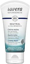 Profumi e cosmetici Crema mani naturale, da notte - Lavera Neutral Green Ultra Sensitive Hand Cream