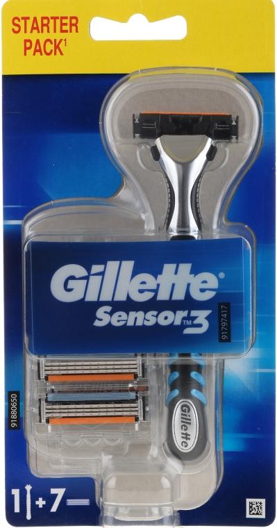 Rasoio con 7 lamette sostituibili - Gillette Sensor 3
